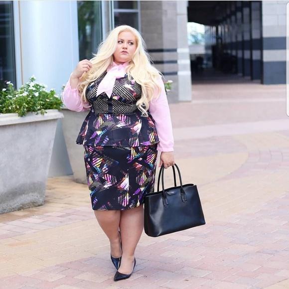 Dresses & Skirts - Bundle Designer dress and pink blouse 2 piece set